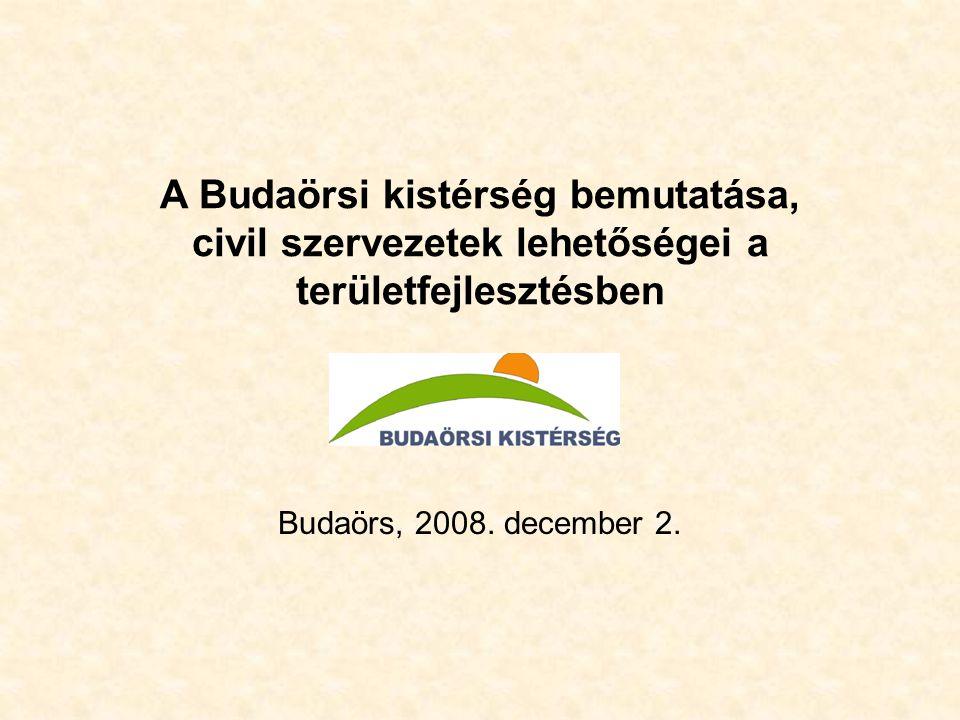 A Budaörsi kistérség bemutatása, civil szervezetek lehetőségei a területfejlesztésben