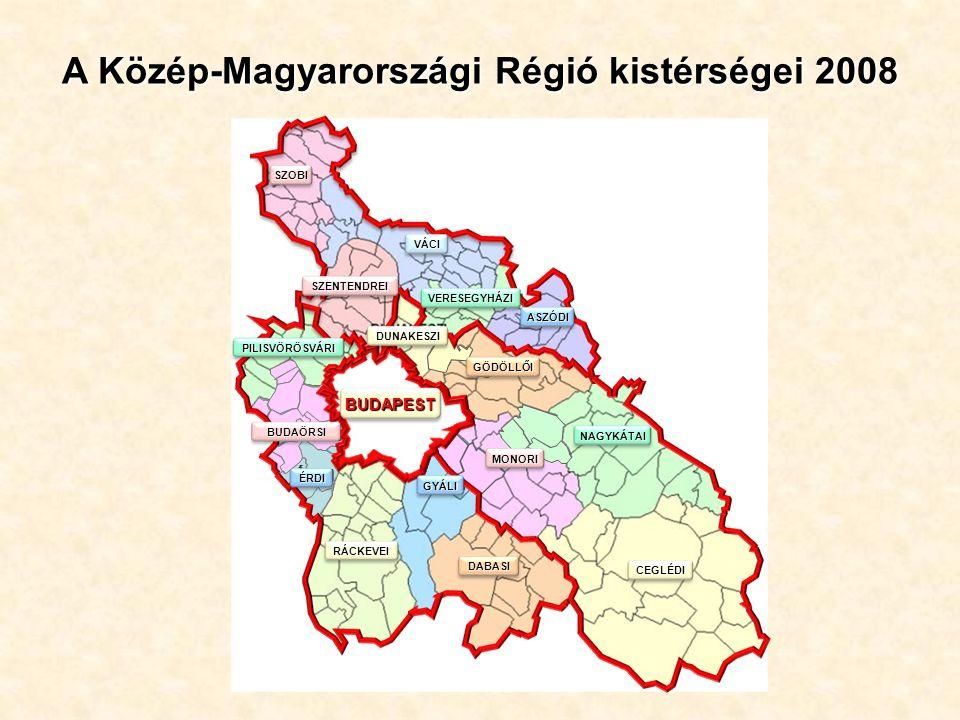 A Közép-Magyarországi Régió kistérségei 2008