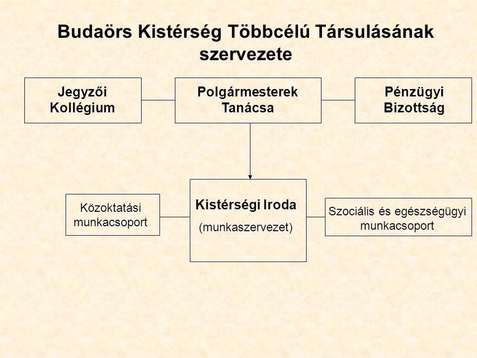 Budaörs Kistérség Többcélú Társulásának szervezete