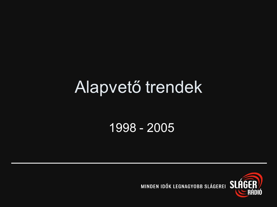 Alapvető trendek 1998 - 2005