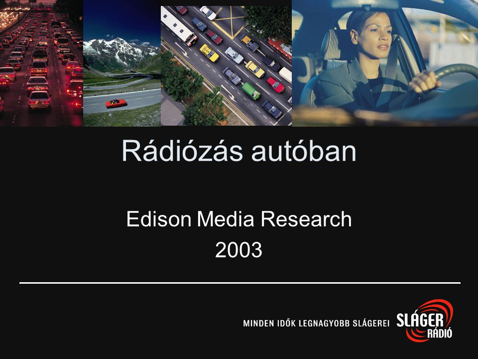 Rádiózás autóban Edison Media Research 2003