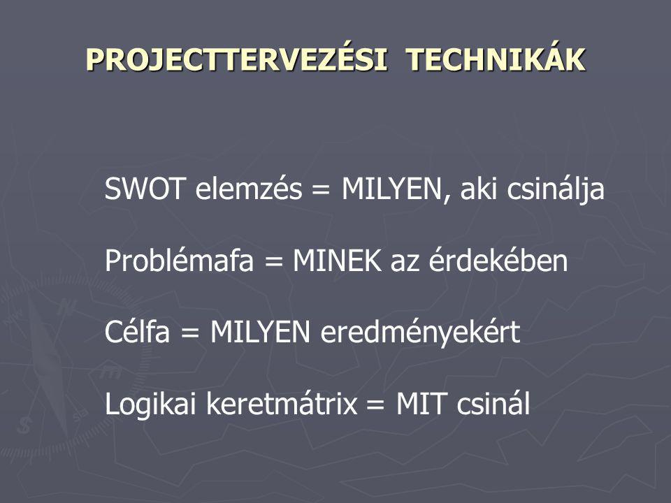 PROJECTTERVEZÉSI TECHNIKÁK