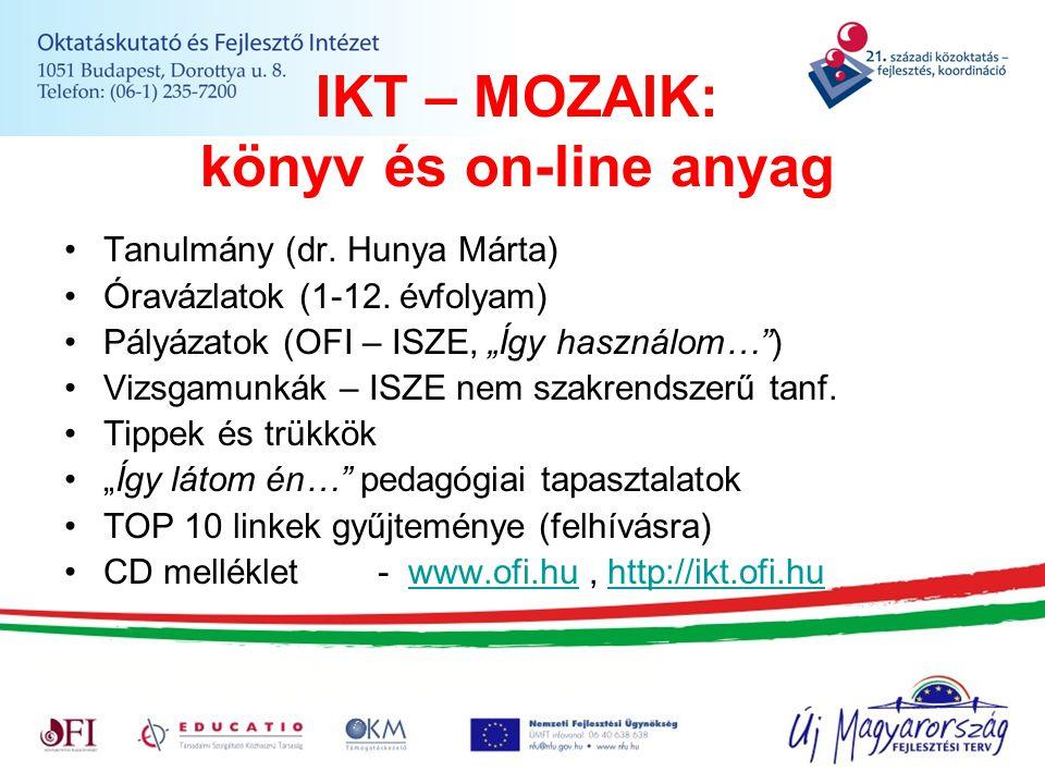 IKT – MOZAIK: könyv és on-line anyag