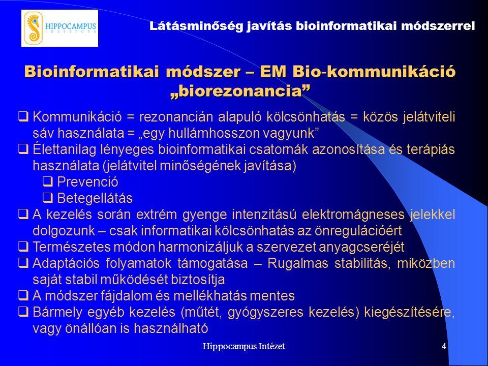 """Bioinformatikai módszer – EM Bio-kommunikáció """"biorezonancia"""