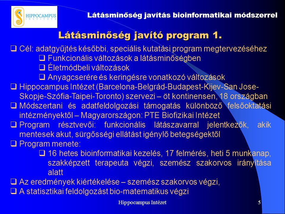 Látásminőség javító program 1.
