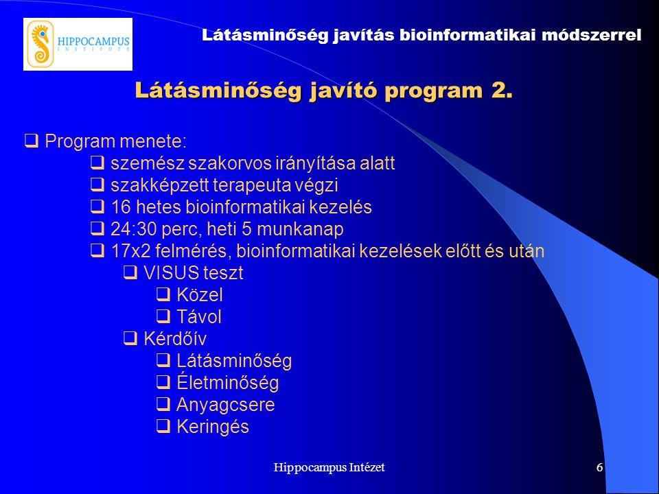 Látásminőség javító program 2.