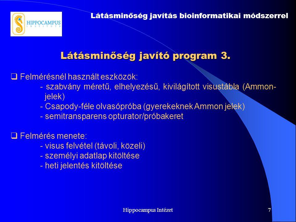 Látásminőség javító program 3.
