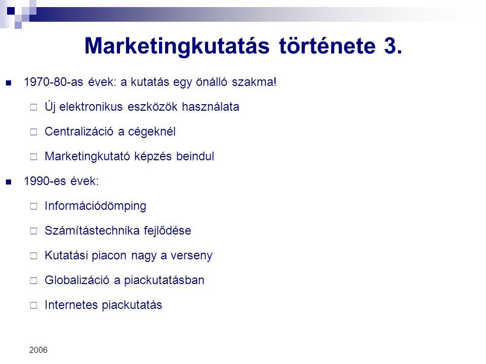 Marketingkutatás története 3.
