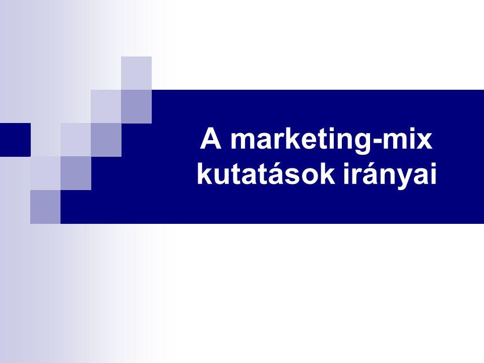 A marketing-mix kutatások irányai