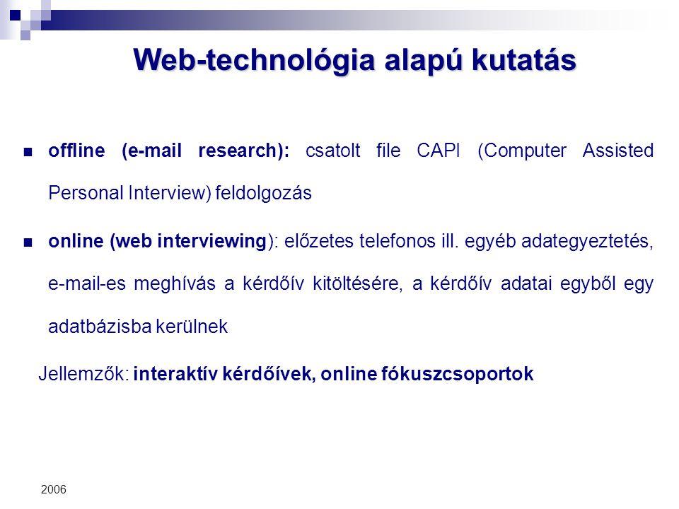 Web-technológia alapú kutatás