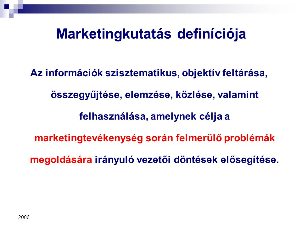 Marketingkutatás definíciója