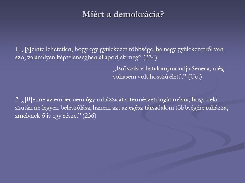 Miért a demokrácia