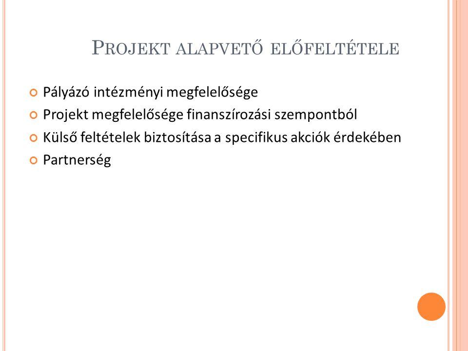 Projekt alapvető előfeltétele