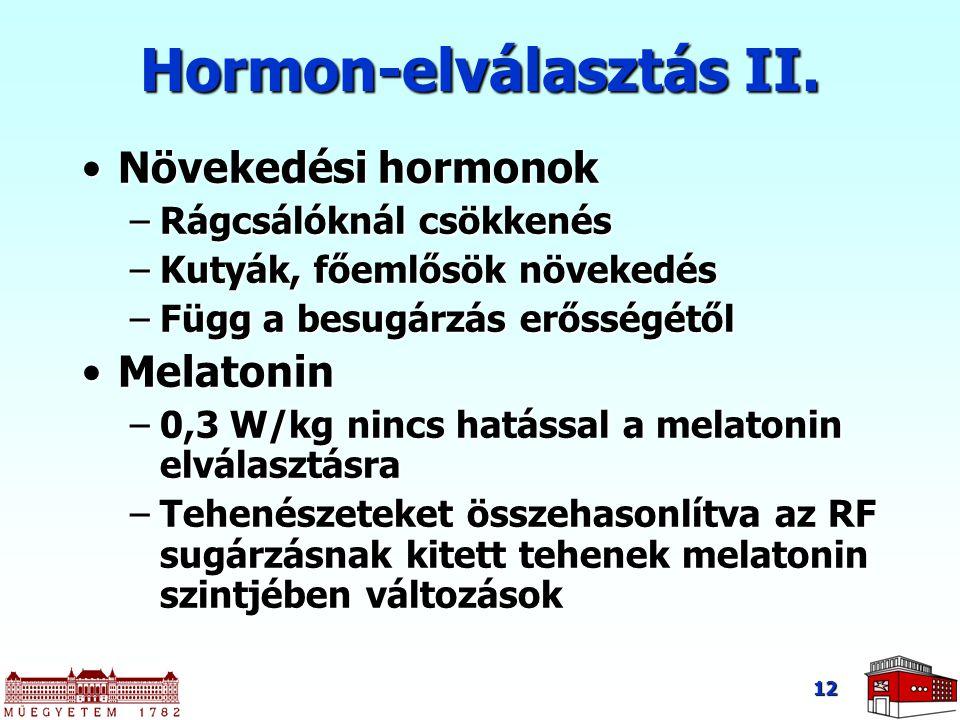 Hormon-elválasztás II.