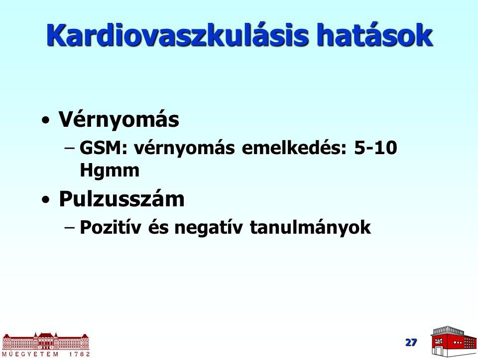 Kardiovaszkulásis hatások