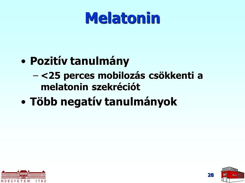 Melatonin Pozitív tanulmány Több negatív tanulmányok