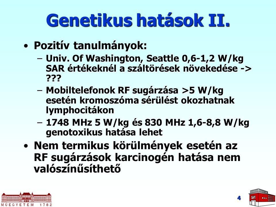 Genetikus hatások II. Pozitív tanulmányok: