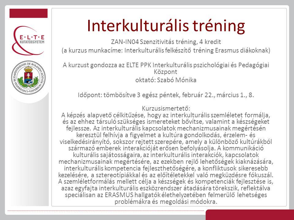 Interkulturális tréning