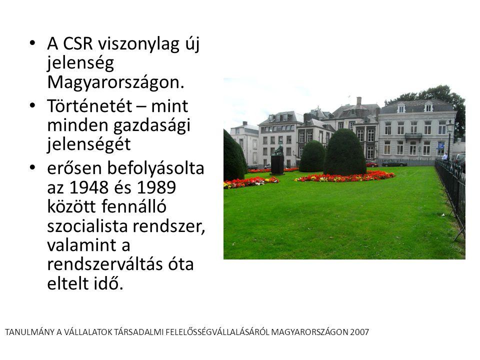 A CSR viszonylag új jelenség Magyarországon.