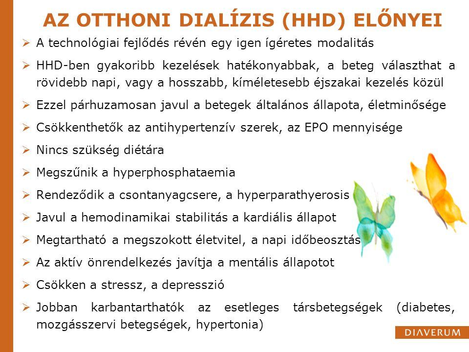 AZ OTTHONI DIALÍZIS (HHD) ELŐNYEI
