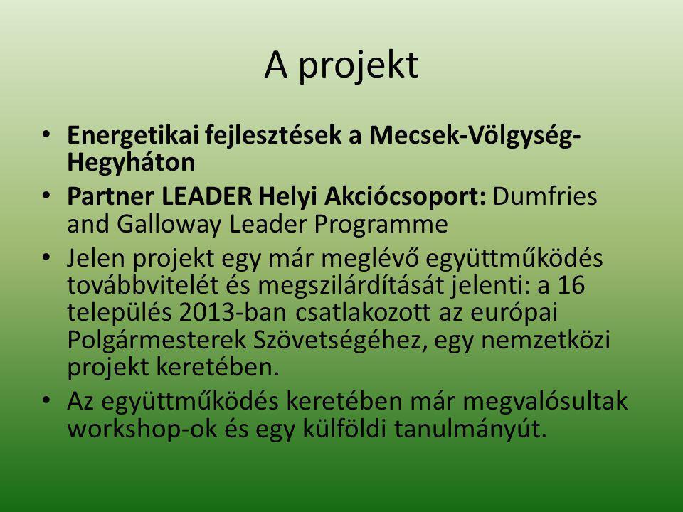 A projekt Energetikai fejlesztések a Mecsek-Völgység-Hegyháton
