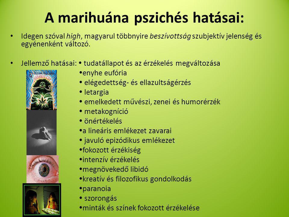 A marihuána pszichés hatásai: