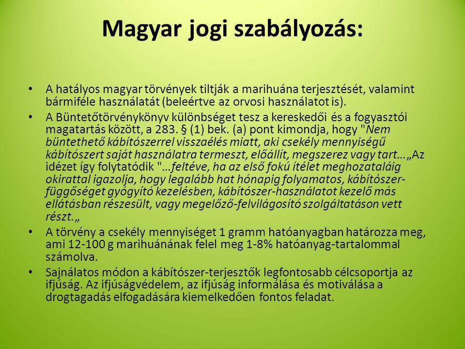 Magyar jogi szabályozás: