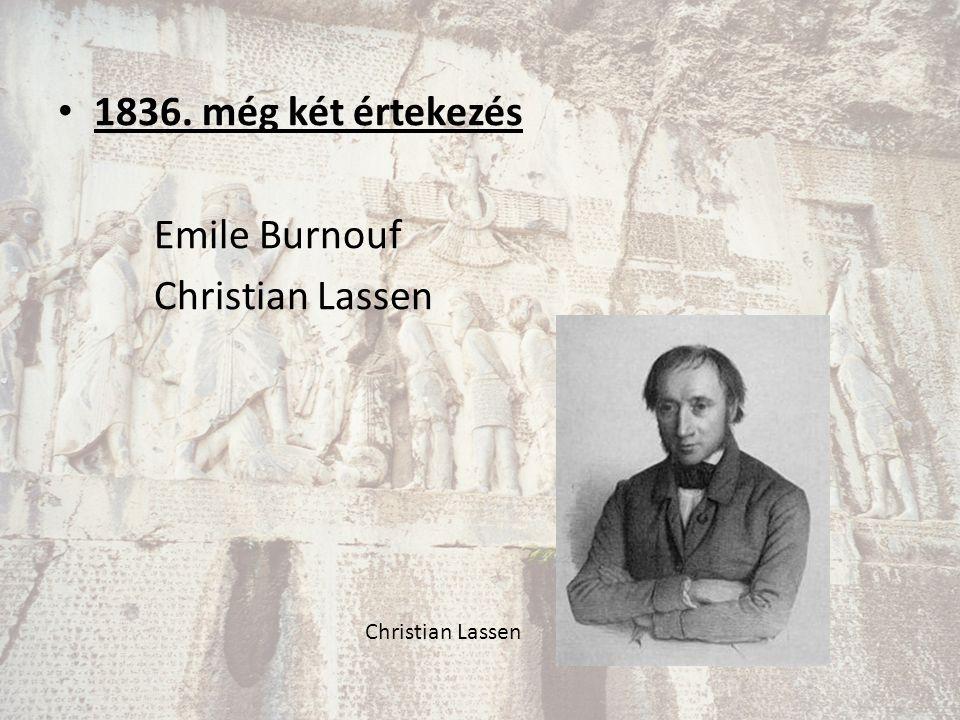 1836. még két értekezés Emile Burnouf Christian Lassen
