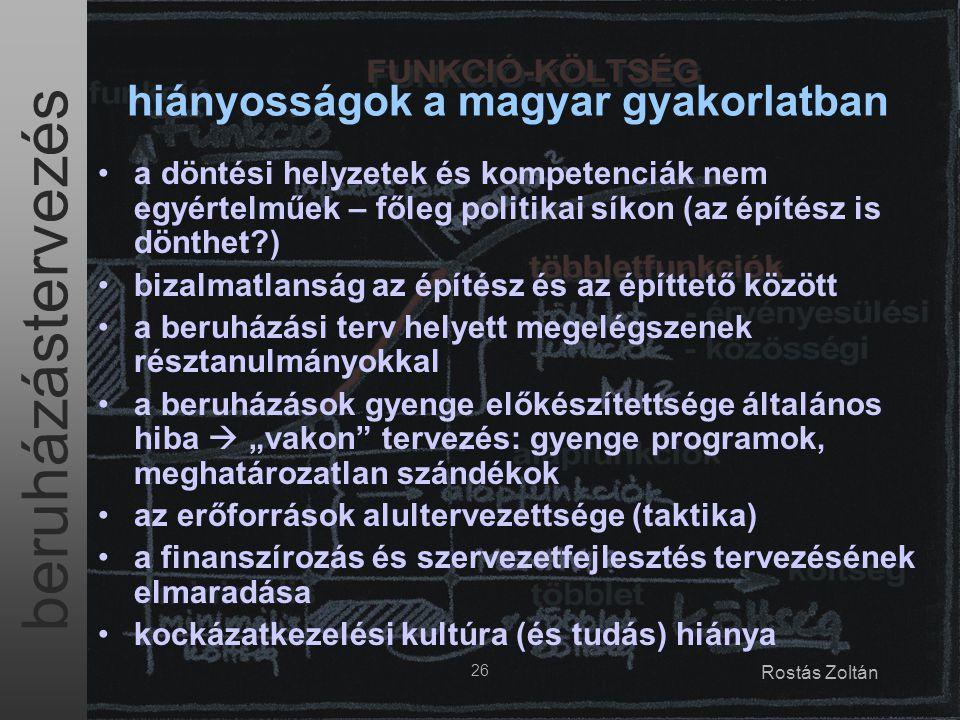 hiányosságok a magyar gyakorlatban