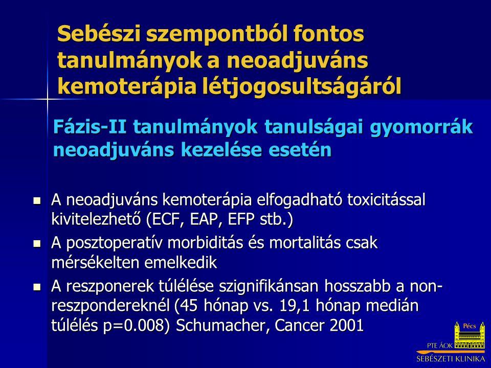 Fázis-II tanulmányok tanulságai gyomorrák neoadjuváns kezelése esetén