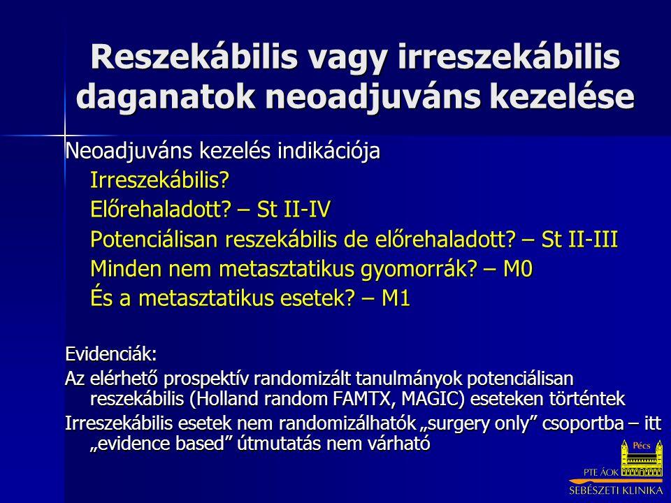Reszekábilis vagy irreszekábilis daganatok neoadjuváns kezelése