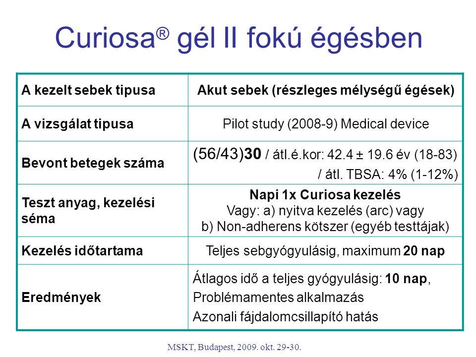Curiosa® gél II fokú égésben