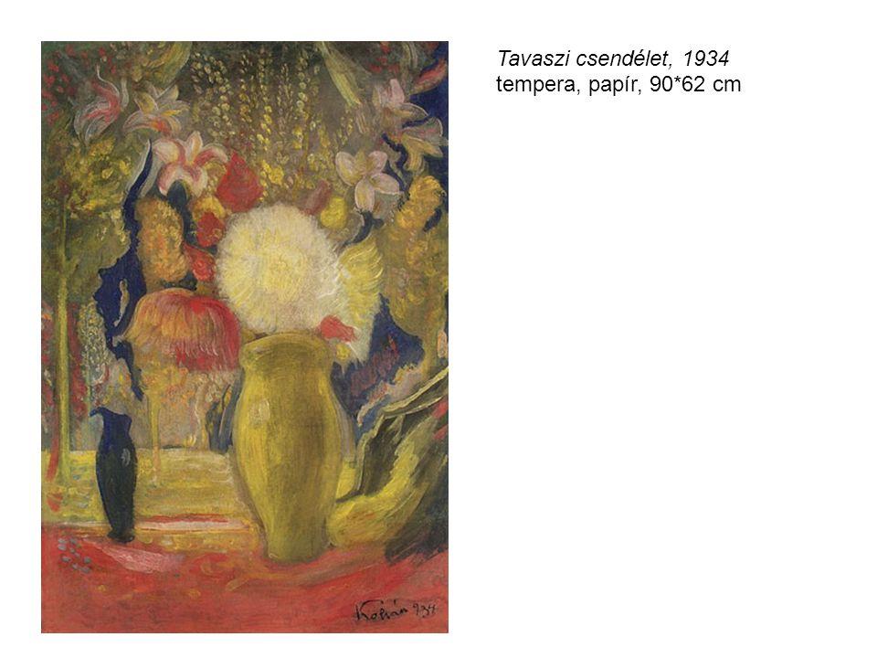 Tavaszi csendélet, 1934 tempera, papír, 90*62 cm