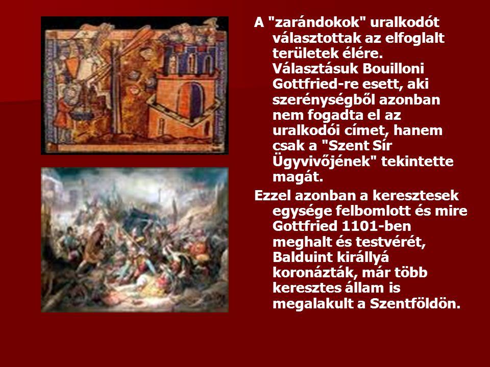 A zarándokok uralkodót választottak az elfoglalt területek élére