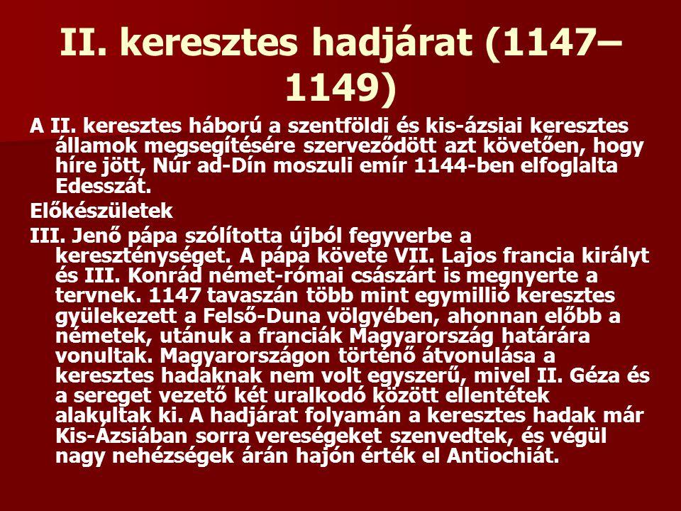 II. keresztes hadjárat (1147–1149)