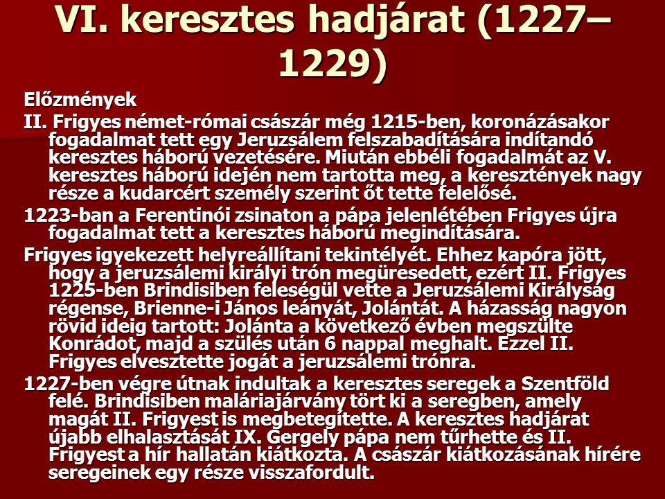 VI. keresztes hadjárat (1227–1229)