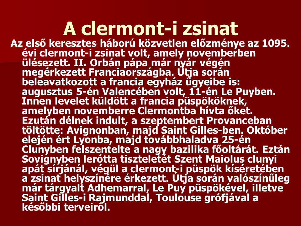 A clermont-i zsinat