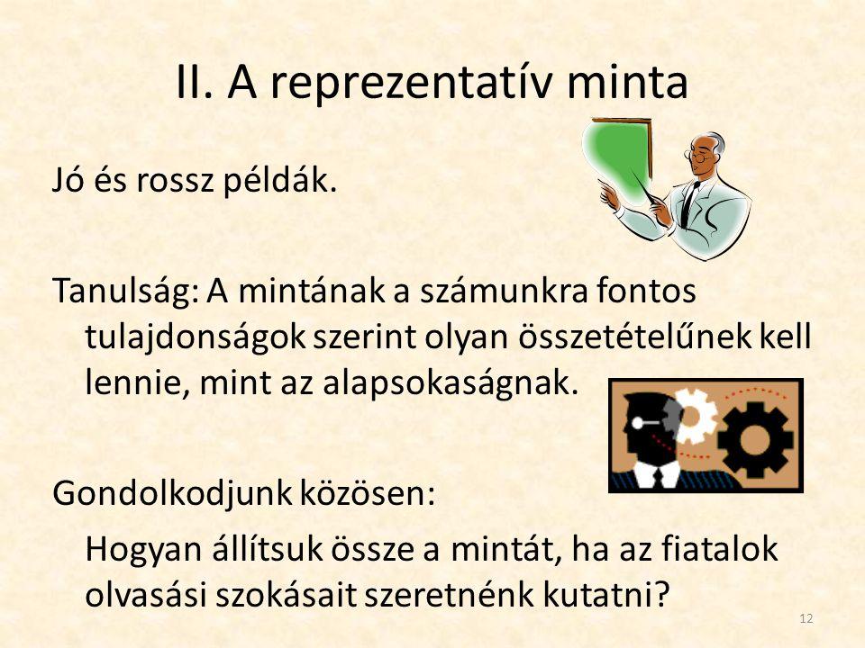 II. A reprezentatív minta