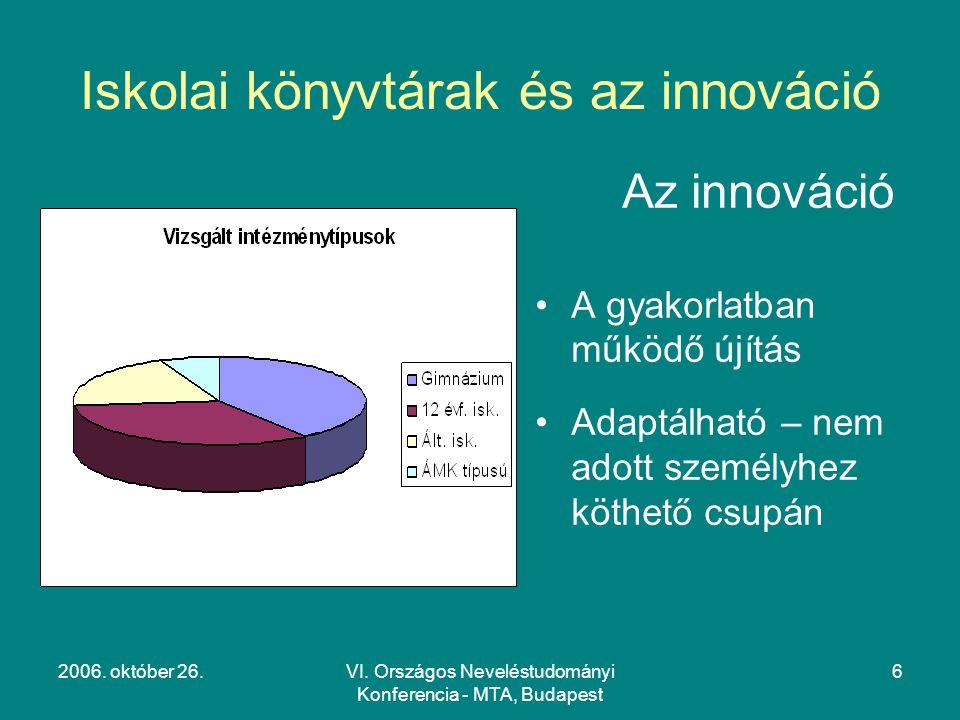 Iskolai könyvtárak és az innováció