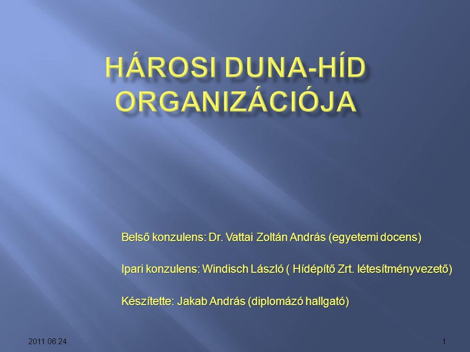 Hárosi Duna-híd Organizációja