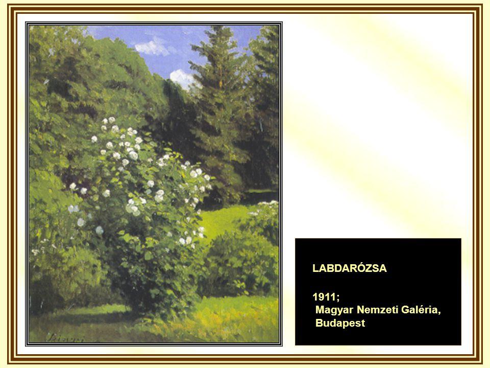 LABDARÓZSA 1911; Magyar Nemzeti Galéria, Budapest