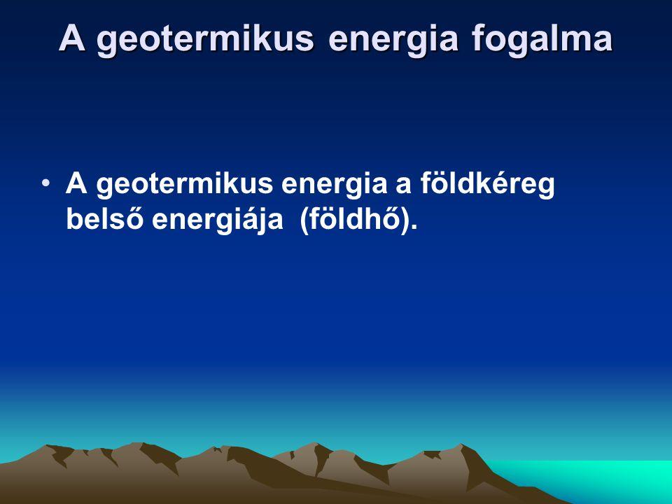 A geotermikus energia fogalma