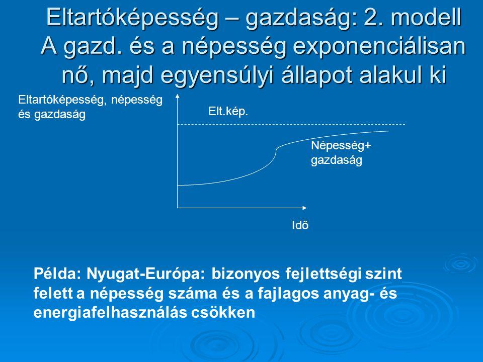 Eltartóképesség – gazdaság: 2. modell A gazd