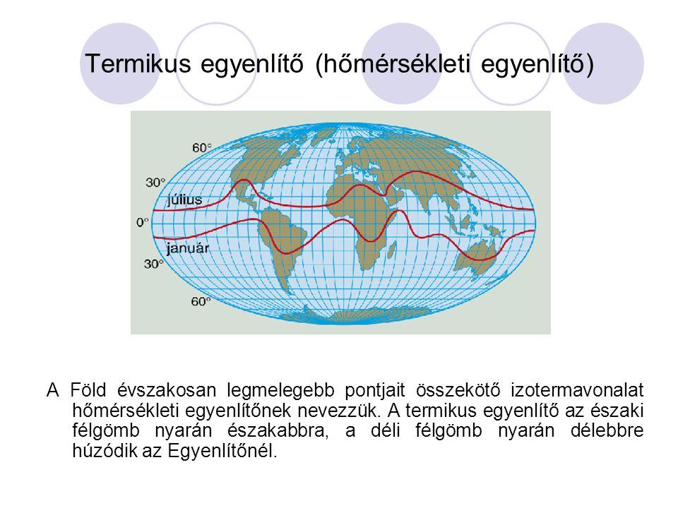 Termikus egyenlítő (hőmérsékleti egyenlítő)