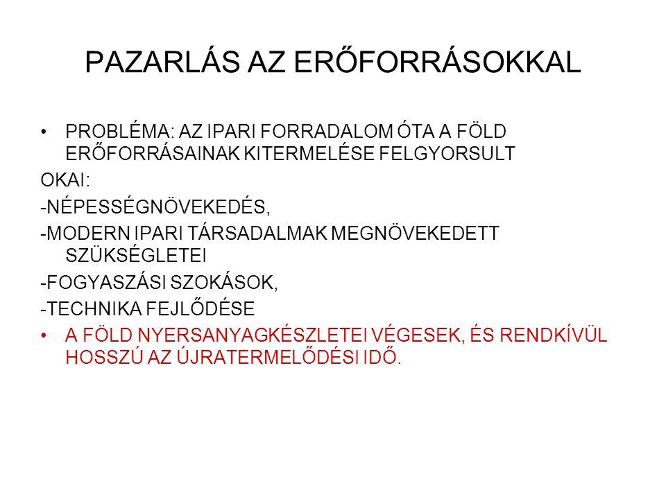 PAZARLÁS AZ ERŐFORRÁSOKKAL
