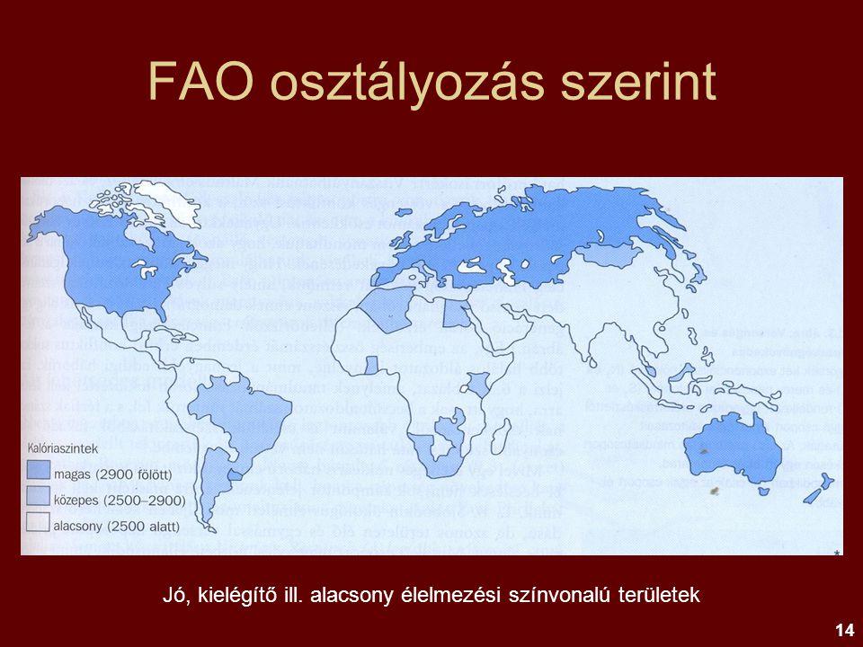 FAO osztályozás szerint