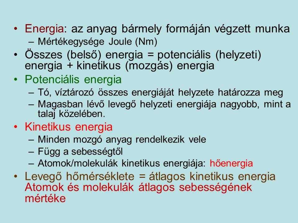 Energia: az anyag bármely formáján végzett munka