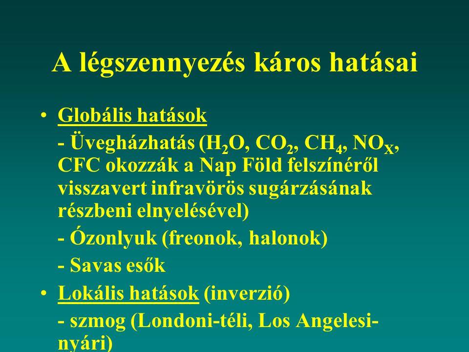 A légszennyezés káros hatásai