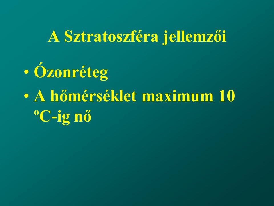A Sztratoszféra jellemzői