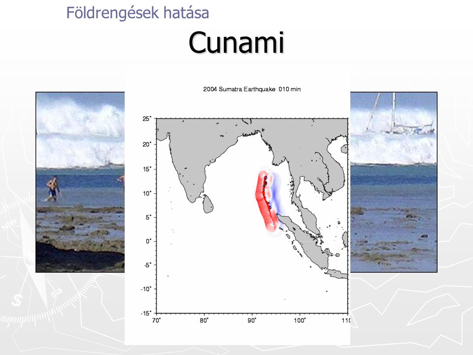 Földrengések hatása Cunami